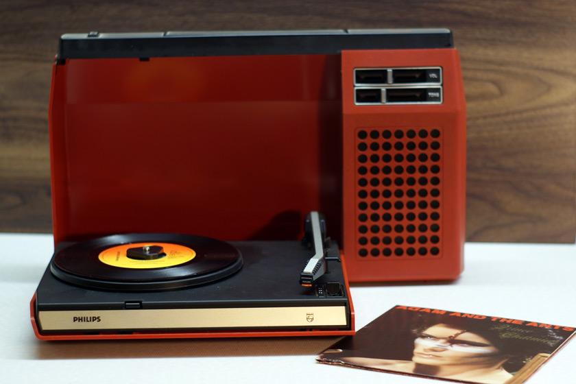 Philips 423 Tragbarer Plattenspieler mit Batteriebetrieb